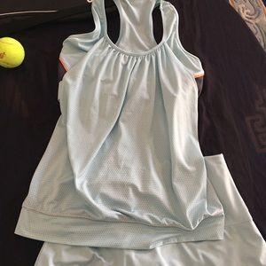Lucky in Love - light blue tennis skirt & top